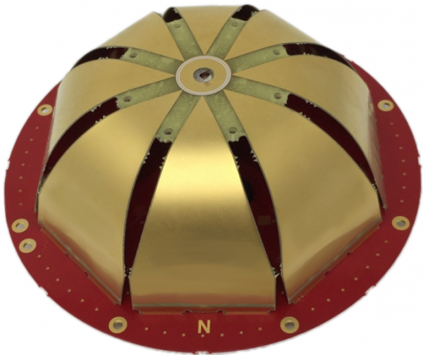 Canada-based Tallysman Wireless's new VeroStar antenna aims to pick up all available satellite navigation signals. The VeroStar design is based on eight curled 'petals' of printed circuit boards, inspired by the post-war Alford loop antenna, which was originally designed for simultaneous transmission of multiple FM radio signals.