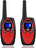 Retevis RT628 Walkie Talkies for Kids,Toy for 3-14 Years Old Boys and Girls,VOX 22 Channels FRS LCD Screen,Kids Walkie Talkies for Birthday Gift Outdoor Adventure(Red, 2 Pack)