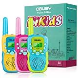 Obuby Toys for 3-12 Year Old Boys Walkie Talkies for Kids 22 Channels 2 Way Radio Gifts Toys with Backlit LCD Flashlight 3 KMs Range Gift Toys for Age 3 up Boy and Girls to Outside , Hiking, Camping