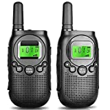 Walkie Talkies for Kids - 22 Channel 2 Way Radio 3 Mile Long Range Rechargeable Handheld Kid's Walkie Talkies with Backlit LCD Flashlight for Boys Girls Adults Outdoor Adventure Game