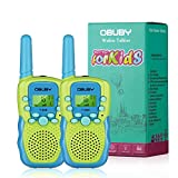 Walkie Talkies for Kids, 22 Channels 2 Way Radio Kid Toy 3 Miles Long Range with Backlit LCD Flashlight Best Walkie Talkie Gifts for Boys and Girls to Outside Adventure, Camping, Hiking (Green &Blue)