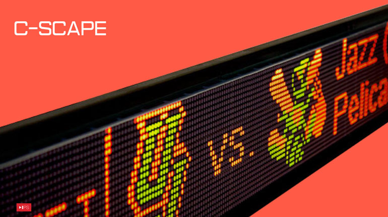 """IPS worked with C-Scape Consulting Corp., a company that provides """"zipper""""-style sports score feeds to restaurants and sports bars, to improve the design and performance of the LED units they provide to venues that display game results in real time."""